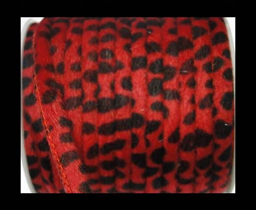 Eco-Nappa 6mm Snake-Style-Fur Cords - Red