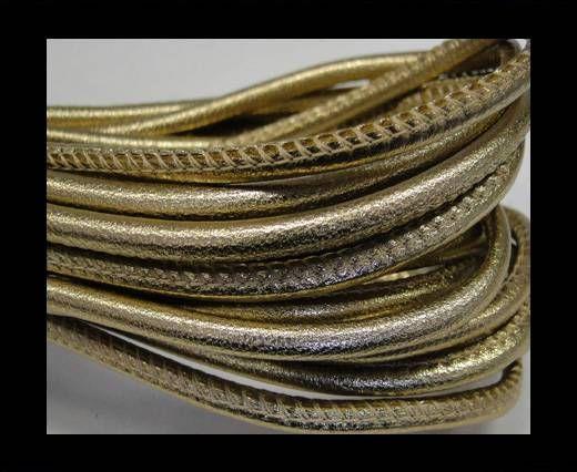 Real Nappa Round-Plain Styles-4mm-Metallic gold