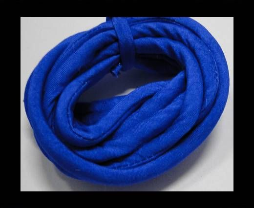 Real silk cords with inserts - 4 mm - Sapphire