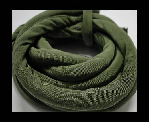 Real silk cords with inserts - 8 mm - Sap Green
