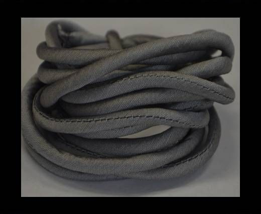 Real silk cords with inserts - 4 mm - Grey