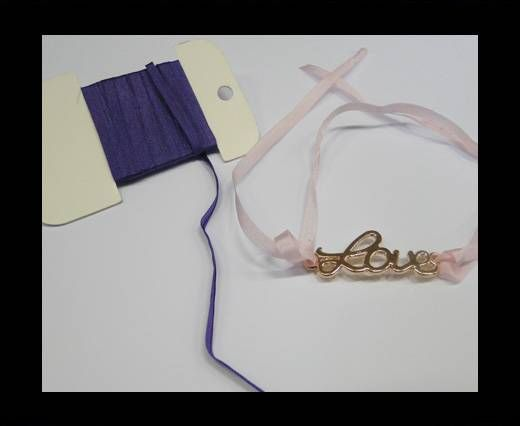 Real Silk Ribbons -A 039- Purple - 4mm