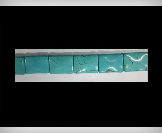 Rectangular Cubical  Turquoise