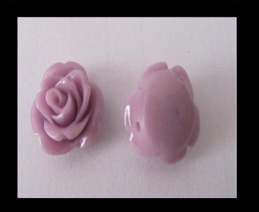 Rose Flower-16mm-light purple