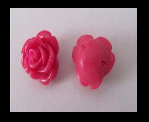 Rose Flower-28mm-Fuchsia