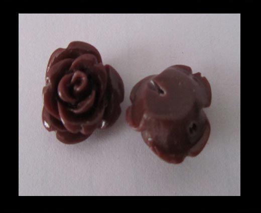 Rose Flower-8mm-Coffe