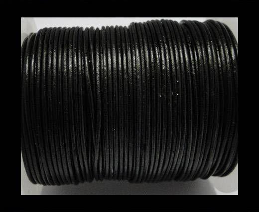 Cordone in cuoio tubolare -SE Nero- 1mm