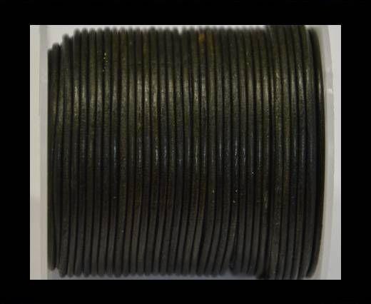 Cordone in cuoio tubolare -Annata Tormalina- 2mm