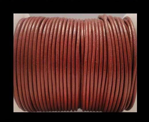 Round Leather Cord 4mm- SE_Bordeaux