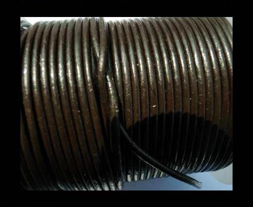 Round Leather Cord -5mm - SE R 03 Dark Brown