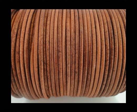 Round Leather Cord -5mm - SE R Vintage Cognac