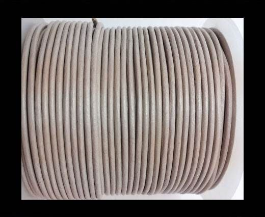 Round Leather Cord -5mm - LIGHT TAUPE