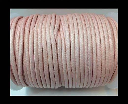 Round Wax Cotton Cords - 3mm  - Baby pink