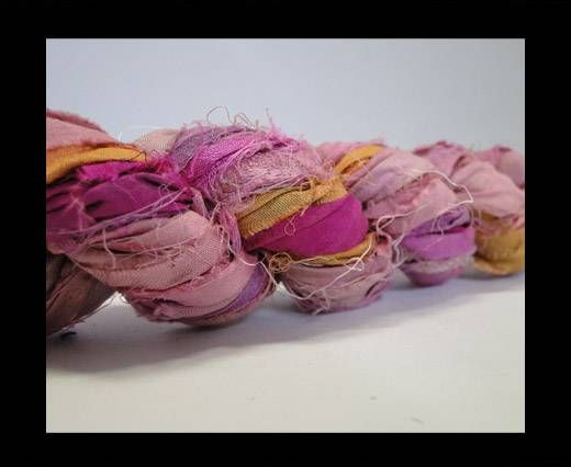 Sari silk ribbons- My Pink