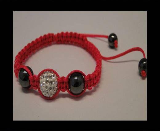 Shamballa Bracelet SB-Crystal-Flour Pink-Style-4