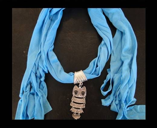 Scarf With Beads Style7-Turquoise