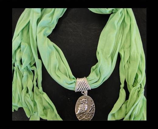 Scarf With Beads Style9-Green
