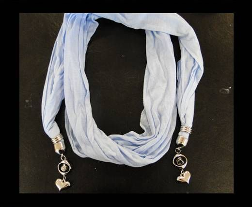 Scarf With Beads Style15-White