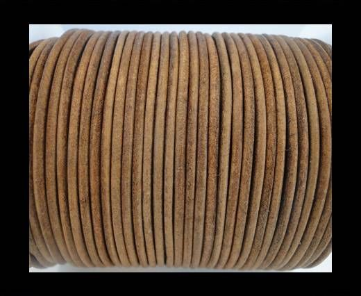 Round Leather Cord SE/R/Vintage Tan-3mm