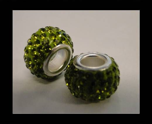 Shamballa-Big Hole-Peridot