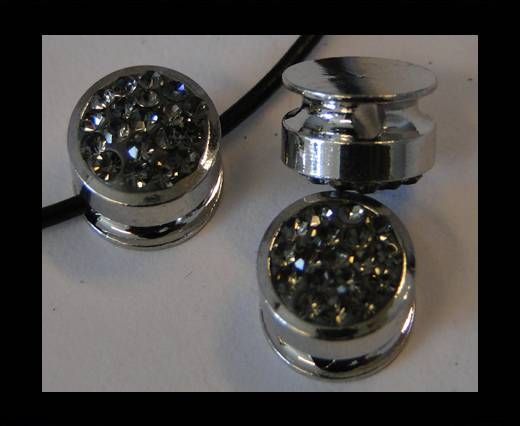 Shamballa-Flat-Round-10mm-Black Diamond