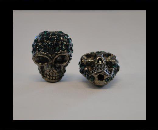 Shamballa Skull-Emrald