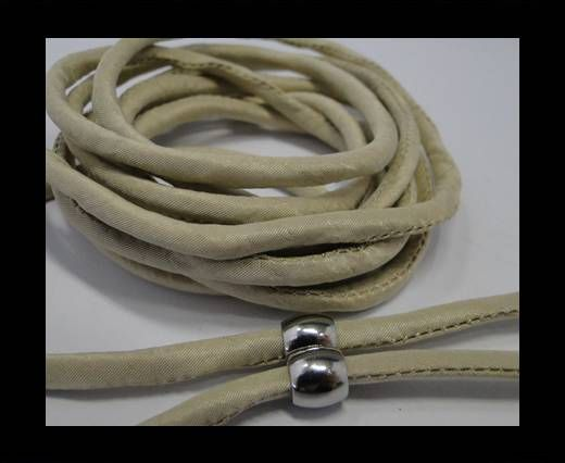 Real silk cords with inserts - 4 mm -  Biscotti
