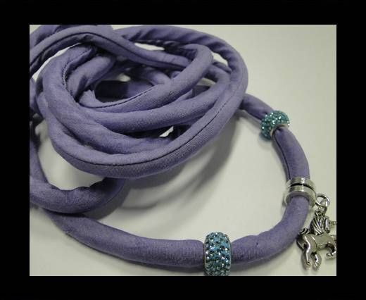 Real silk cords with inserts - 8 mm - Mauve