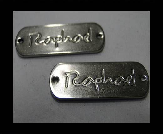 Stainless steel logo plate SSP-267