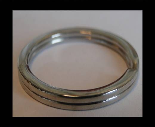Stainless Steel Round Key Ring Finding - SSP-28 - 30mm