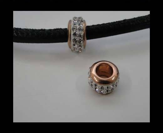 Stainless steel part for leather SSP-366-6mm-rose gold
