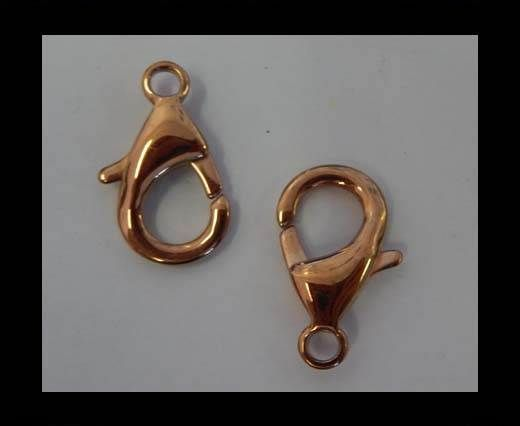 Stainless Steel Lobster Claw Clasp - SSP-43-24mm-Rose gold