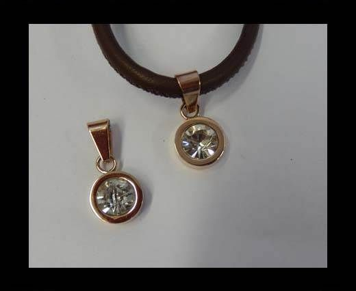 Stainless steel pendant SSP-501-12mm-Rose Gold