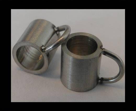Stainless steel part for leather SSP-54 - 5mm MATT
