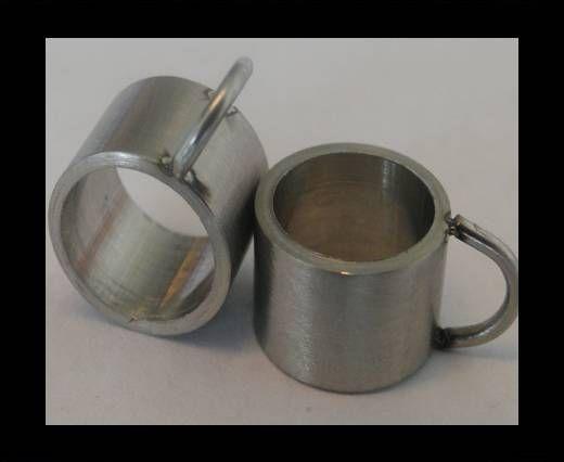 Stainless steel part for leather SSP-54 - 8mm MATT