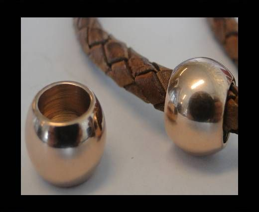 Stainless steel part for leather SSP-61 - 7mm ROSE GOLD