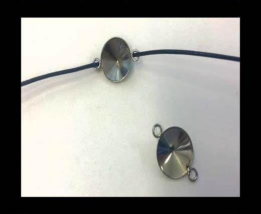 Stainless steel charm SSP-661-12mm-Steel