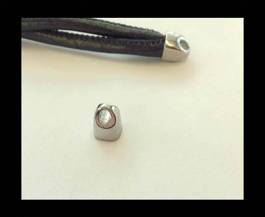 Stainless steel end cap SSP-698-5*5mm-Steel