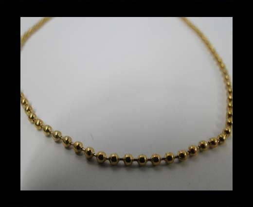 Stainless Steel Chain Item-32-2mm Gold
