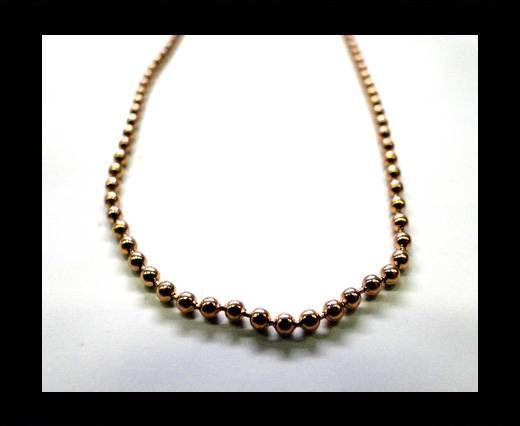 Steel Chain Item 32 Rose Gold - 2mm