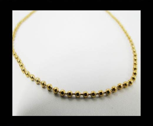 Steel chain item number-39- gold