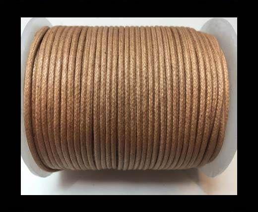 Wax Cotton Cords - 1mm - Dark Natural