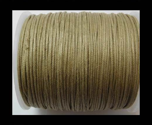 Wax Cotton Cords - 1mm - Dark Sand