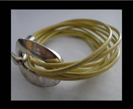 Handmade Leather bracelet Zamac-Finish-BH12