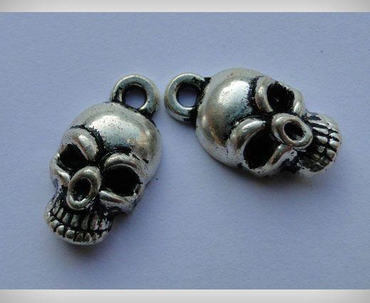 Zamac Silver Plated Beads CA-3009