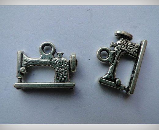 Zamac Silver Plated Beads CA-3016