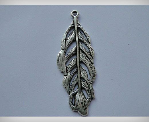 Zamac Silver Plated Beads CA-3031