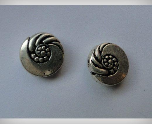 Zamac Silver Plated Beads CA-3062
