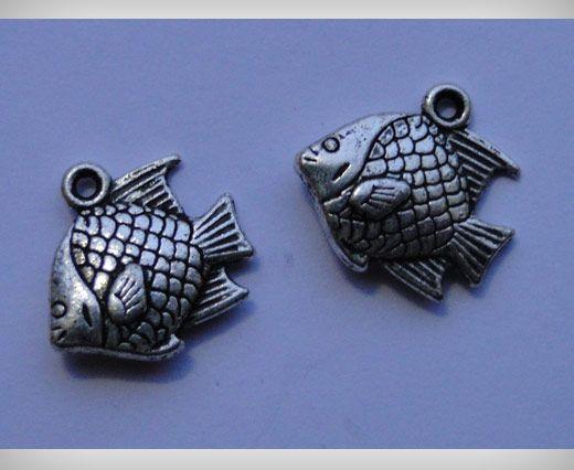 Zamac Silver Plated Beads CA-3070