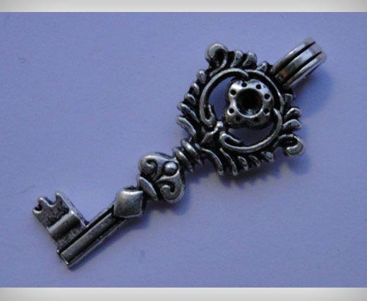 Zamac Silver Plated Beads CA-3071